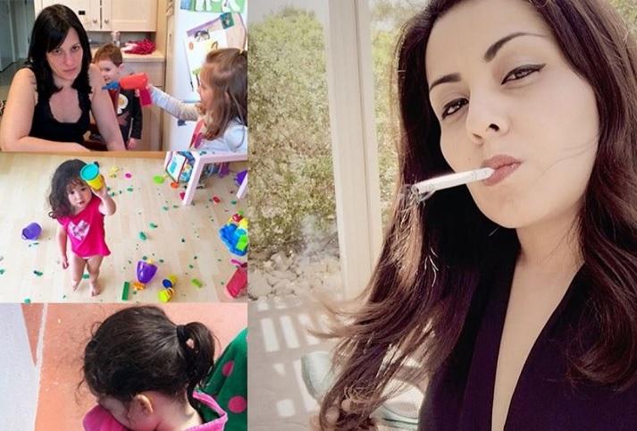 hostující ženy kouření