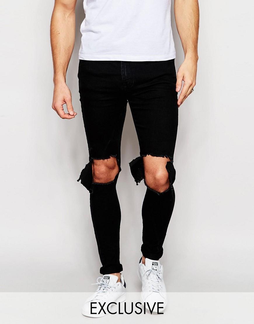 TREND  Roztrhané černé skinny jeans – jak je nosit a kterým stylům se  vyhnout  094ee3cb26